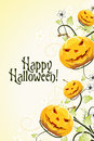 Abstract Halloween Background With Flowers Royalty Free Stock Photo - 27023765