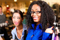 Friends Shopping In Mall Or Store Royalty Free Stock Images - 27039229