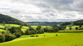 Panorama Of Welsh Countryside Stock Image - 27041141