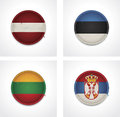 Vector Flags Of Countries As Fabric Badges Stock Photography - 27047242
