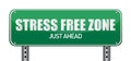 Stress Free Zone Just Ahead Illustration Sign Stock Images - 27075204