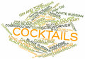 Word Cloud For Cocktails Stock Photography - 27079172