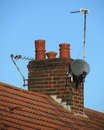 Domestic Chimney- Britain Royalty Free Stock Images - 27084939