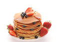 Pancakes With Strawberry And Blueberries Royalty Free Stock Photos - 27085358