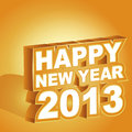 3D  , Happy New Year 2013 Royalty Free Stock Photography - 27095167