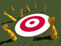 MISSED TARGET, MARK, SALES, GOAL, Royalty Free Stock Photo - 2710755