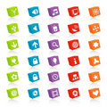 Cubed Web Icons (Vector) Royalty Free Stock Photo - 2717915