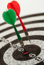 Two Darts On A Dartboard Royalty Free Stock Photo - 27101995