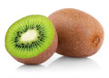 Ripe Kiwi Fruit With Half Royalty Free Stock Image - 27106876