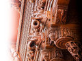 Carved Elephant Wood Architecture Detail Stock Photos - 27111523