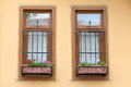 Two Windows With Bars Royalty Free Stock Images - 27124699