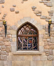 Arched Window In Stone Wall Stock Photos - 27132243