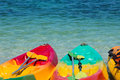 Colorful Kayaks On The Tropical Beach, Thailand Royalty Free Stock Photography - 27142237