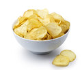 Bowl Of Potato Chips Royalty Free Stock Photography - 27149617
