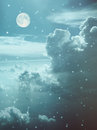 The Sky With Clouds,moon Royalty Free Stock Photo - 27155285