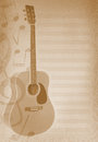 Musical Background With Guitar Royalty Free Stock Photos - 27155368