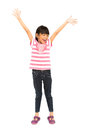 Happy Little Girl With Her Arms Wide Open Stock Image - 27166611