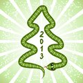 Cute Snake (symbol Of 2013 Year) Royalty Free Stock Image - 27169656