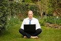 Businessman Working Outdoors Royalty Free Stock Photography - 27173307