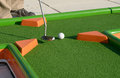 Minigolf Ball On A Course Royalty Free Stock Image - 27182236