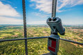 View From Tower With Binoculars Royalty Free Stock Images - 27189429