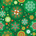 Seamless Green Christmas Pattern Royalty Free Stock Images - 27193529
