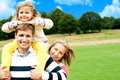Family S Day Out In The Park. Everyone Enjoying Stock Photos - 27195013