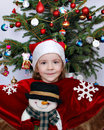 Little Girl Christmas Time Royalty Free Stock Photography - 27196597