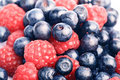 Many Blueberries & Raspberries Royalty Free Stock Photos - 2722468