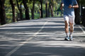 Man Jogging In The Public Park Royalty Free Stock Images - 27202919