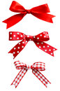 Isolated Red Bows Royalty Free Stock Photography - 27207327
