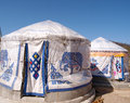 Under The Blue Sky Yurt Tent Stock Photo - 27209850