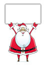 Santa Claus With Sign Royalty Free Stock Photo - 27213475