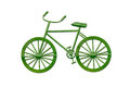Bicycle By Green Leaf Royalty Free Stock Images - 27214309
