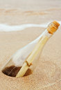 Message In A Bottle Royalty Free Stock Photo - 27218885