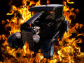 Classic Vintage Hot Rod Car Automobile Flames Royalty Free Stock Image - 27228866