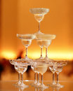 Champagne Tower Royalty Free Stock Photo - 27229975