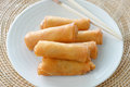 Crispy Chinese Traditional Spring Rolls Food Royalty Free Stock Photography - 27244567