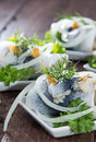 Herring Filet On Small Plates Stock Photography - 27245782