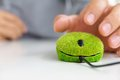 Green Computer Mouse Stock Image - 27248191