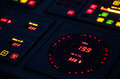 Fragment Of Illuminated Ship Control Panel Stock Photography - 27250682