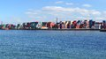 Freight Containers In The Le Havre Port. Stock Images - 27256574