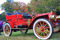 Red Antique Car Royalty Free Stock Image - 27258556
