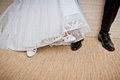 Bride And Groom Shoes. Stock Image - 27262191