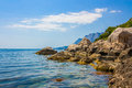 Coast Line Of Sea In Nice Day Royalty Free Stock Photo - 27266355