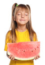Little Girl With Watermelon Royalty Free Stock Photos - 27284058
