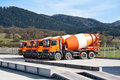 Cement Trucks Royalty Free Stock Photos - 27293768