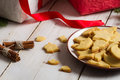 Cookies With Christmas Gifts Royalty Free Stock Image - 27295286