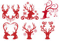 Christmas Deer Stag Heads, Vector Stock Photo - 27305640
