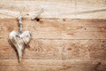 Beautiful Rustic Wooden Heart Royalty Free Stock Images - 27307089